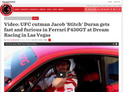 UFC cutman Jacob 'Stitch' Duran gets fast and furious in Ferrari F430GT at Dream Racing in Las Vegas