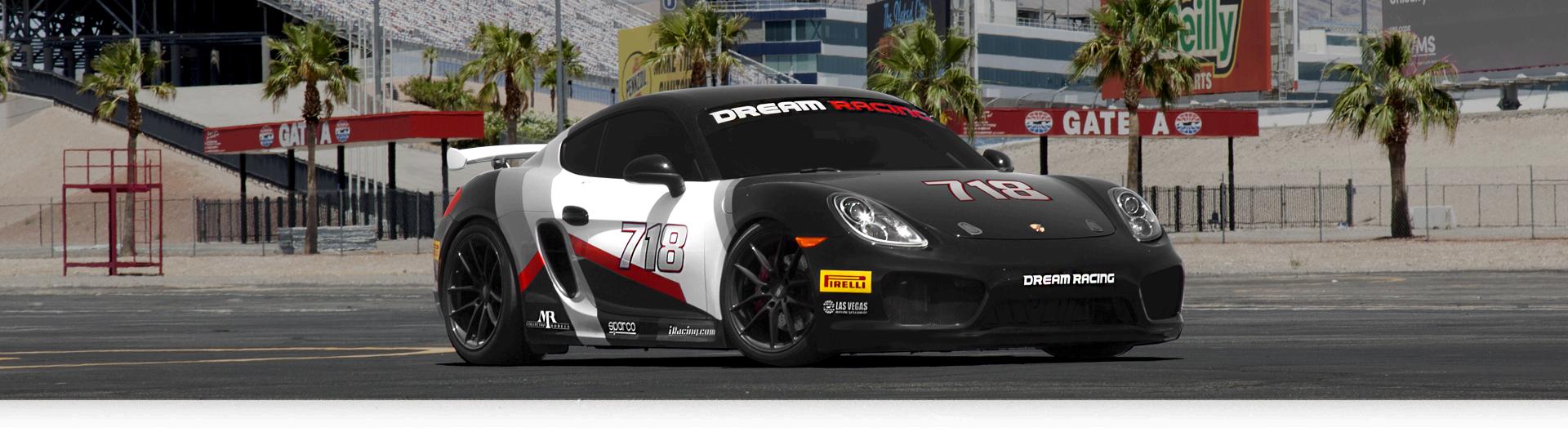 Porsche Las Vegas >> The Porsche Cayman Gt Dream Racing