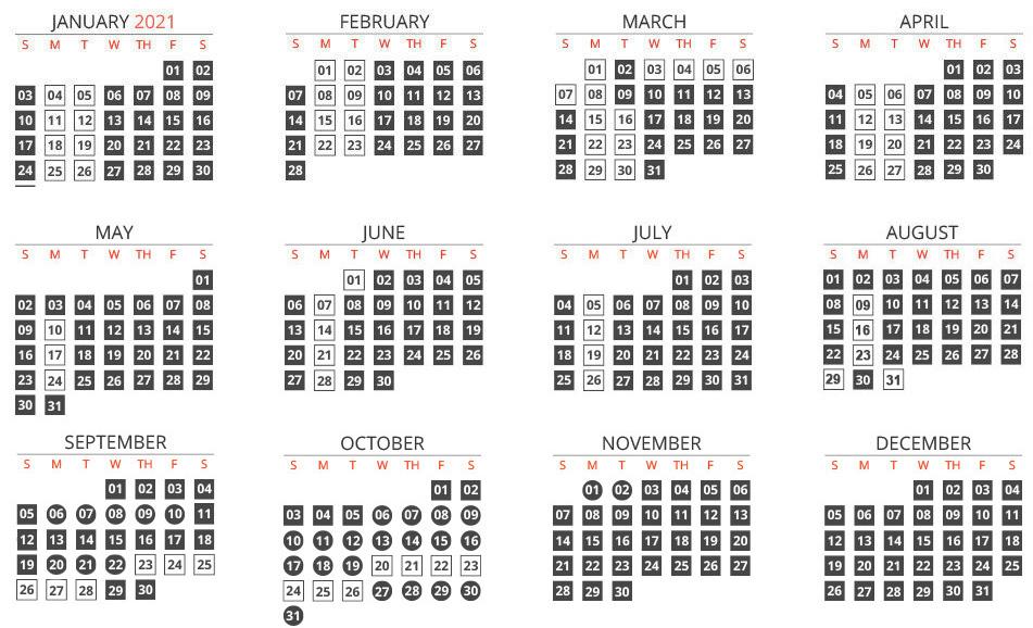 Calendar-line